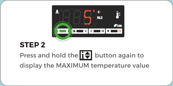 Standard Controller Reset min/max air temperature step 2