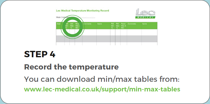 Standard Controller View min/max air temperature step 4