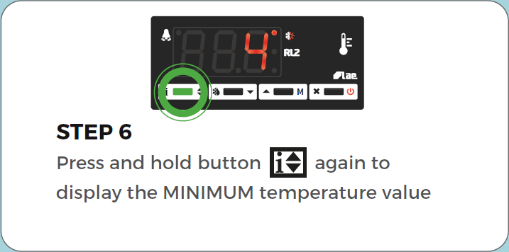 Standard Controller View min/max air temperature step 6