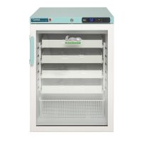 Under-counter Pharmacy Fridge Glass Door 151L White with Pre-Fitted Anti-Bacterial Drawers