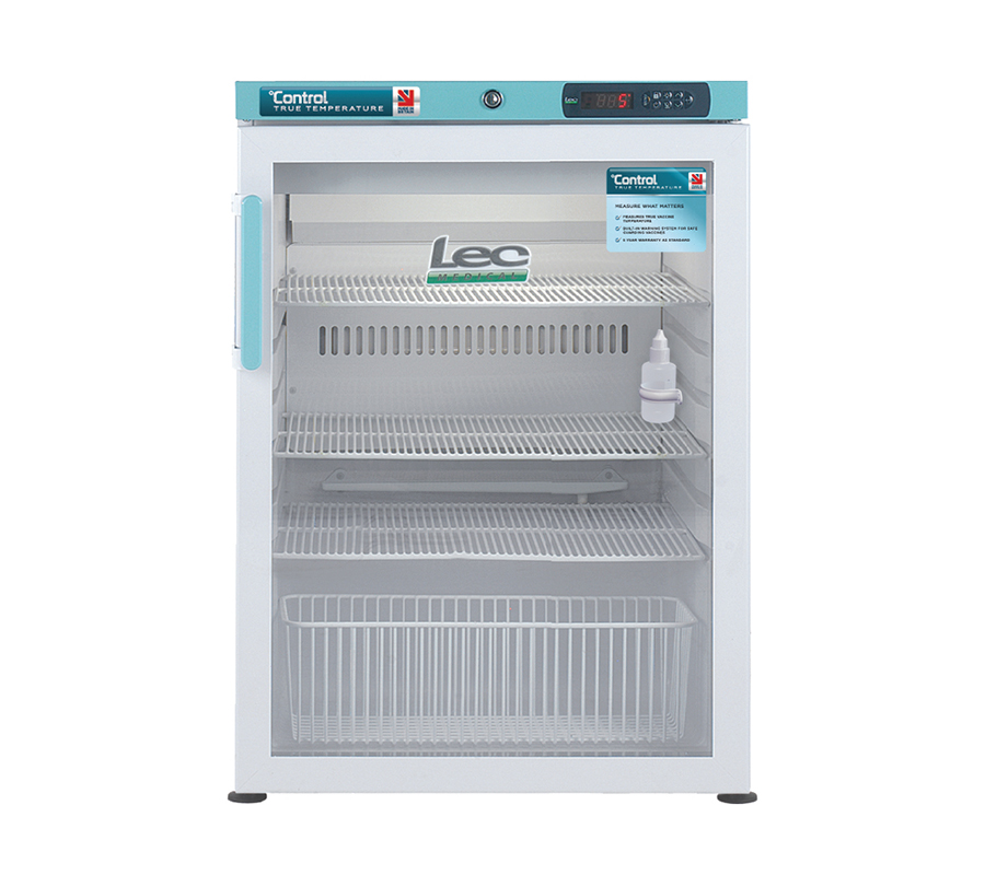 Pgrc151uk Under Counter Pharmacy Refrigerator Glass Door 151l Lec