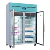 PGR1200UK Large Pharmacy Refrigerator Glass Door 1200L